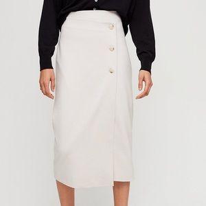 Aritzia Babaton Buttoned Up midi skirt size 6 NWT